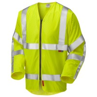Leo Workwear Huish Yellow Sleeved Zip Waistcoat