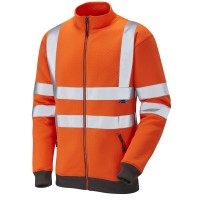 Leo Workwear Libbaton Orange Hi Vis Track Top