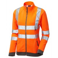 Leo Workwear Hollicombe Orange Womens Sweatshirt