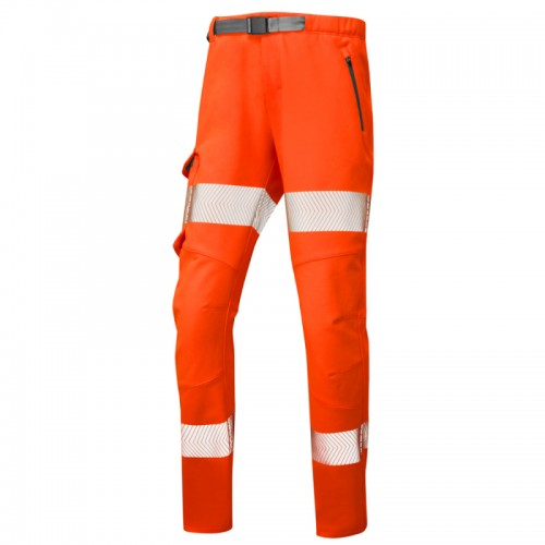 Leo Workwear Starcross Orange Stretch Ladies Hi Vis Trouser