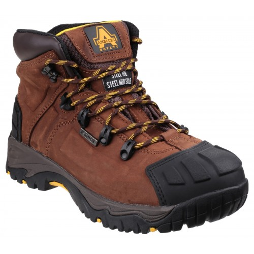 Amblers FS39 Brown Waterproof Safety Boots