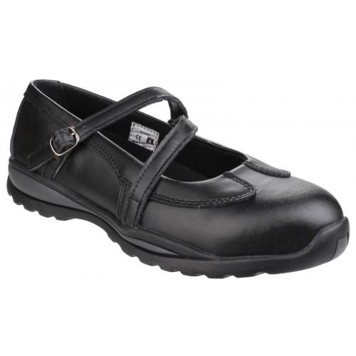 Amblers FS55 Black Ladies Safety Shoes