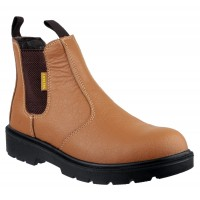 Amblers FS115 Tan Pull-On Safety Dealer Boots