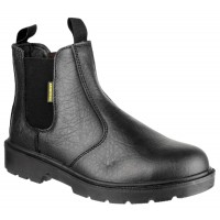 Amblers FS116 Black Pull-On Safety Dealer Boots