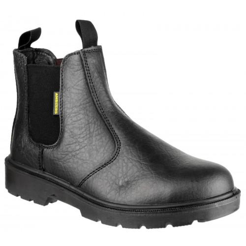 Amblers FS116 Black Pull-On Safety Dealer Boots