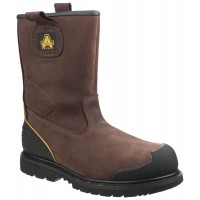 Amblers FS223C Brown Safety Rigger Boots