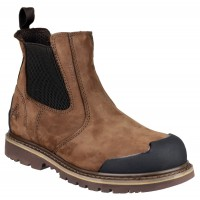 Amblers FS225 Brown Waterproof Chelsea Safety Boots