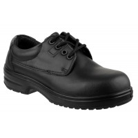 Amblers FS121C Black Ladies Lace-Up Safety Shoes