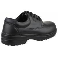 Amblers FS121C Black Ladies Lace-Up Safety Shoes