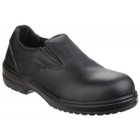 Amblers FS94C Black Ladies Slip On Safety Shoes