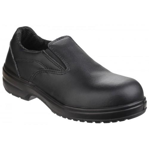 Amblers FS94C Black Ladies Slip On Safety Shoes