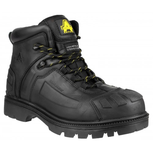 Amblers FS996 Black Metal Free Waterproof Boots