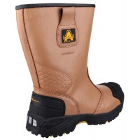 Amblers FS143 Tan Waterproof Safety Rigger Boots