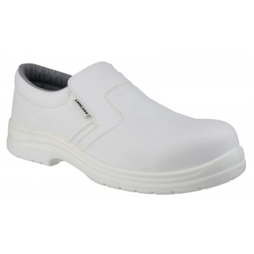 Amblers FS510 White Slip On Safety Shoes