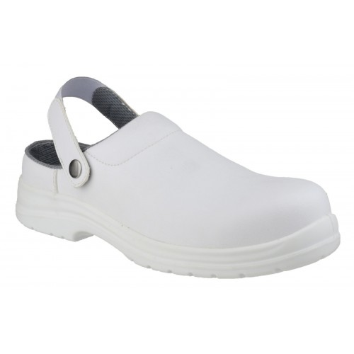 Amblers FS512 White Clog Safety Shoes