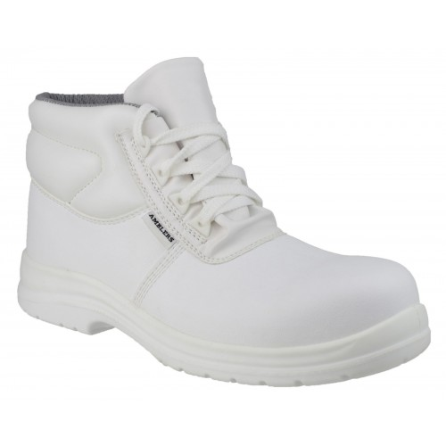 Amblers FS513 White Non-Metal Safety Boots
