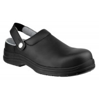 Amblers FS514 Black Clog Safety Shoes
