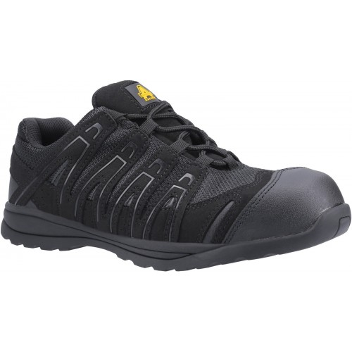 Amblers FS40C Black Safety Trainers