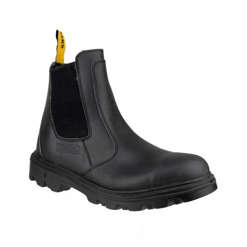 Amblers FS129 Black Pull On Safety Dealer Boots