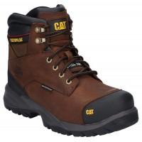 CAT Spiro Dark Brown Safety Boots