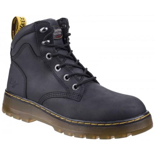 Dr Martens Brace Black Safety Boots