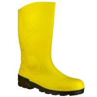 Dunlop Devon Yellow/Black Safety Wellingtons