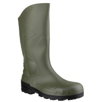 Dunlop Devon Green/Black Safety Wellingtons