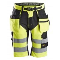 Snickers 6933 FlexiWork Hi-Vis Shorts Holster Pockets