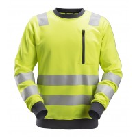 Snickers 8037 AllroundWork, High-Vis Sweatshirt CL2/CL3