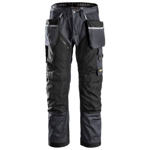 Snickers 6205 Ruffwork Denim Trousers, New Snickers Ruffwork Denim Trouser