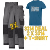 Snickers 2 x 3314 Trousers and SD T-Shirt