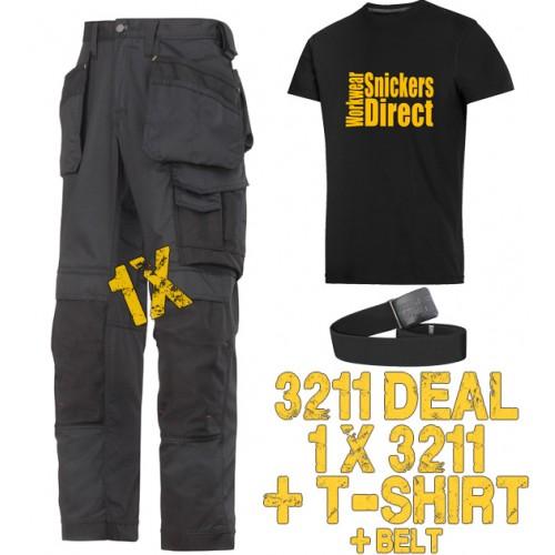 Snickers 3211 Work Trouser Kit T-Shirt & PTD Belt