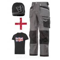 Snickers 3212 3-Series Trousers & 9093 Snickers Windstopper Hat + TShirt