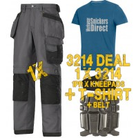 Snickers 3214 Work Trousers Kit1 Inclued 9111 - PTD Belt - SD T-Shirt