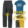 Snickers 3311 CoolTwill Trousers Kit 1 x 3311 1 x 9110 1x PTD Belt 1 x SnickersDirect T-Shirt
