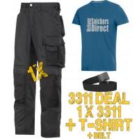 Snickers 3311 Work Trouser Kit T-Shirt & PTD Belt