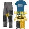 Snickers 3312 Work Trouser Deal 1B Inc T-Shirt