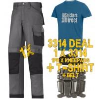 Snickers 3314 Work Trouser Kit1 Inclued 9111 - PTD Belt - SD T-Shirt