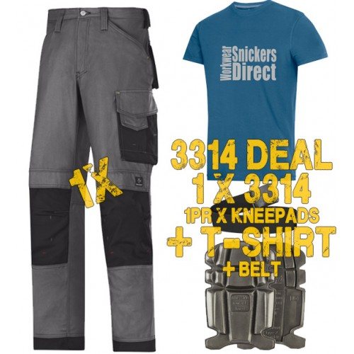 Snickers 3314 Work Trouser Kit1 Inclued 9111 - PTD Belt - SD T-Shirt