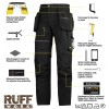 Snickers 6202 Ruffwork Holster Pocket Trousers, New Snickers Ruffwork Trouser