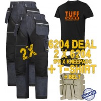 Snickers 6204 Kit2 Ruffwork Denim Trousers