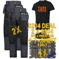 Snickers 6204 Kit3 Ruffwork Denim Trousers