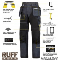 Snickers 6204 Ruffwork Denim Trousers, New Snickers Ruffwork Denim Trouser