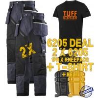 Snickers 6205 Kit1 Ruffwork Denim Trousers