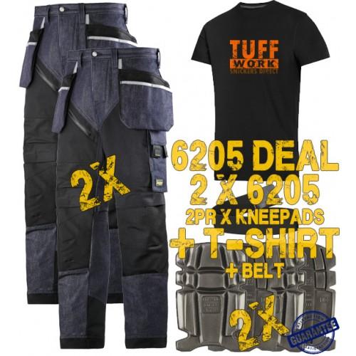 Snickers 6205 Kit3 Ruffwork Denim Trousers