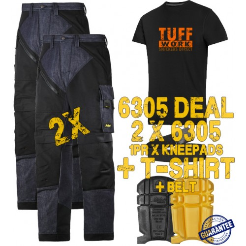 Snickers 6305 Kit1 Ruffwork Denim Trousers