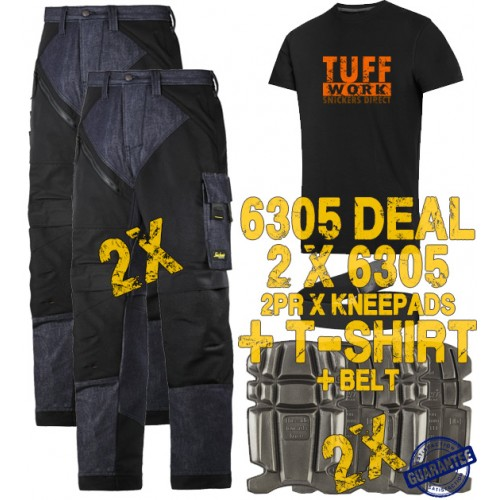 Snickers 6305 Kit3 Ruffwork Denim Trousers