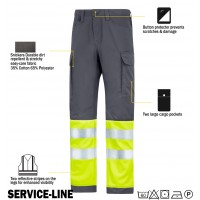 Snickers 6900 Service Line Trousers High Visibility