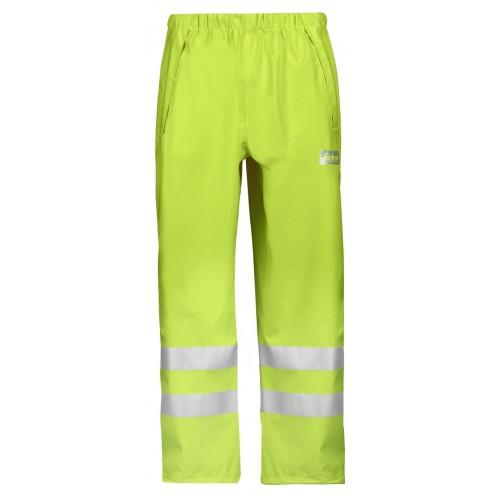 Snickers Workwear 8243 High-Vis PU Rain Trousers Class 2