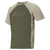 Snickers 2500 T-Shirt With  Snickers Logo Olive/Khaki